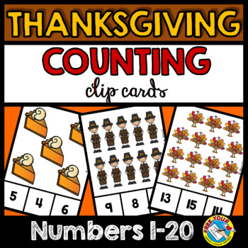 THANKSGIVING ACTIVITY KINDERGARTEN (COUNTING TO 20 PRACTICE)