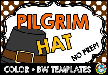 Thanksgiving Crafts Pilgrim Hat November Activity Kindergarten