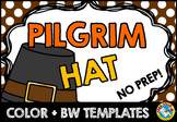 THANKSGIVING CRAFTS (PILGRIM HAT) NOVEMBER ACTIVITY KINDERGARTEN