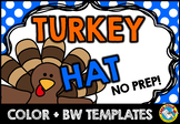 THANKSGIVING CRAFTS (TURKEY HAT) NOVEMBER ACTIVITIES KINDERGARTEN, FIRST GRADE
