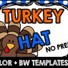 THANKSGIVING CRAFTS (TURKEY HAT) NOVEMBER ACTIVITIES KINDERGARTEN, FIRST GRADE