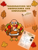 THANKSGIVING CROSSWORD PUZZLE AND WORDSEARCH