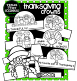 THANKSGIVING CROWNS or HATS 26 Pieces {Texas Twist Scribbles}