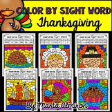 THANKSGIVING - Color by SIGHT WORD {Includes Digital Resources}