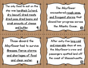 """Thanksgiving """"Commas in a Series"""" Story Task Cards"""