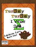 THANKSGIVING Common Core Math Unit Bingo Ten Frame Missing Numbers Ways to 10 +