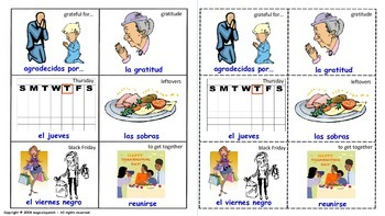 Thanksgiving Day in Spanish - Lottery (Board Game).