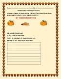THANKSGIVING DAY: POETRY ACTIVITY
