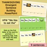 THANKSGIVING DINNER  Emergent Sentence Building PowerPoint