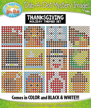 THANKSGIVING Dab-A-Dot Mystery Images Clipart Set