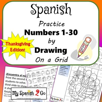 THANKSGIVING: Draw the Square in the Grid for Spanish #'s 1 to 100