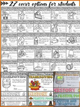 THANKSGIVING EDITABLE FLIPBOOK: INFORMATIONAL REPORT WRITING RESEARCH TEMPLATES