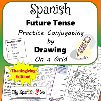 THANKSGIVING EDITION! SPANISH FUTURE TENSE VERBS Draw on Grid