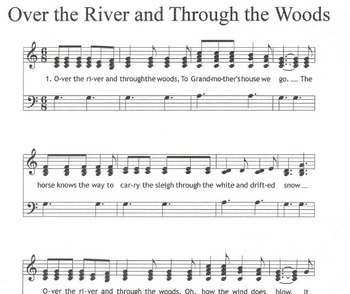 THANKSGIVING Easy Chimes & Bells Arr. Over the River & Through the Woods