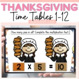 THANKSGIVING-FALL THEME: MULTIPLICATION (TIMES TABLES) BOO