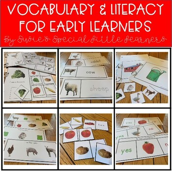 FARM ANIMAL EARLY LITERACY &  VOCABULARY FOR AUTISM AND SPED