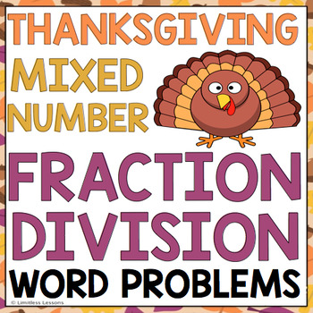 THANKSGIVING FRACTION DIVISION WORD PROBLEMS