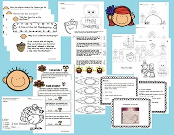 THANKSGIVING FUN MATH ,LITERACY, AND ACTIVITIES For Pre-K and Kindergarten