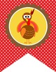 THANKSGIVING - Flag Banners, Alphabet A to Z Flags
