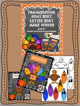 THANKSGIVING Font Sort Letter Sort Make Words
