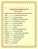 THANKSGIVING GRAMMAR ACTIVITY: FUN WITH VERBS