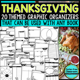 THANKSGIVING | Graphic Organizers for Reading | Reading Graphic Organizers
