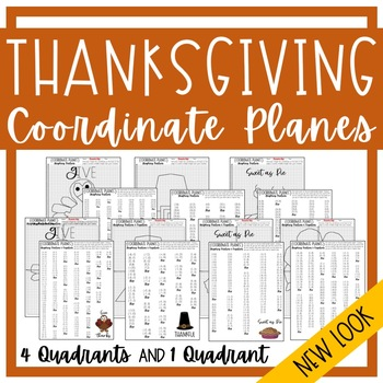 THANKSGIVING Graphing Coordinate Planes!