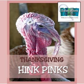 THANKSGIVING HINK PINK FREEBIE
