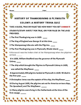 THANKSGIVING HISTORY TRIVIA QUIZ: CHALLENGING & FUN!
