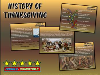 THANKSGIVING HISTORY - fun, engaging, informative 20-slide PPT