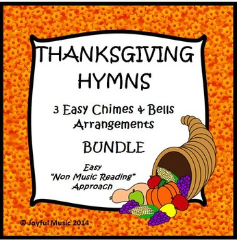 THANKSGIVING HYMNS 3 Easy Chimes & Bells Arrangements BUNDLE