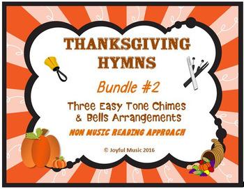 THANKSGIVING HYMNS  3 Easy Chimes & Bells Arrangements BUNDLE #2