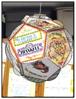"THANKSGIVING ""I'M THANKFUL FOR"" BALL: TEAM ACTIVITY (DODECAHEDRON)"