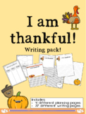 THANKSGIVING: I am Thankful Writing! (Differentiated Plann