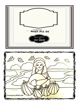 THANKSGIVING INTERACTIVE CARD - MONA LISA
