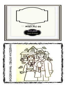 THANKSGIVING INTERACTIVE CARD - AMERICAN GOTHIC