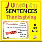 THANKSGIVING ... Jumbled Sentences ... BONUS DIGITAL DECK Grades 3-4