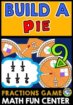 THANKSGIVING ACTIVITIES: BUILD A PIE FRACTIONS GAME: THANKSGIVING MATH CENTER