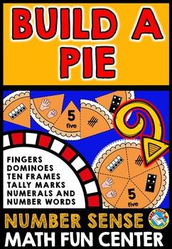THANKSGIVING MATH GAME: NUMBER SENSE KINDERGARTEN CENTER:  BUILD A PIE GAME