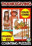 THANKSGIVING MATH CENTER (NUMBERS 1 TO 100 ACTIVITIES)