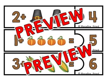 THANKSGIVING MATH: ADDITION PUZZLES: THANKSGIVING ADDITION COUNTING ON STRATEGY