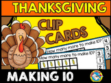 THANKSGIVING ACTIVITIES KINDERGARTEN (MAKING 10 CENTER)