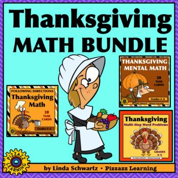 THANKSGIVING MATH BUNDLE • MULTI-STEP WORD PROBLEMS • MENTAL MATH