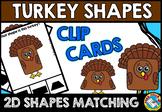 THANKSGIVING MATH CENTER FOR KINDERGARTEN (TURKEY SHAPES R