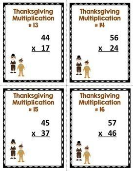 Thanksgiving Math Mega Bundle - Worksheets, Task Cards, and Editable Labels