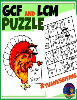 THANKSGIVING MATH PUZZLE - GCF AND LCM
