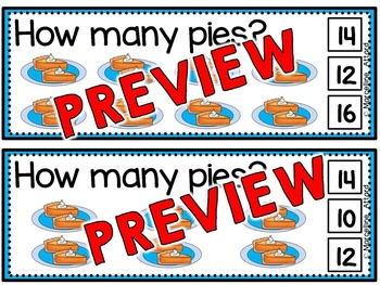 THANKSGIVING ACTIVITIES KINDERGARTEN (SKIP COUNTING BY 2S CLIP CARDS)