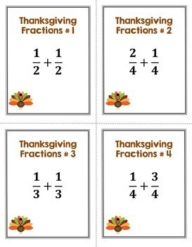 Thanksgiving Math Task Card Bundle (Differentiated with 3 Levels)