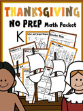 THANKSGIVING MATH WORKSHEETS FOR KINDERGARTEN