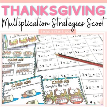 THANKSGIVING MATH ACTIVITIES: MULTIPLICATION SCOOT
